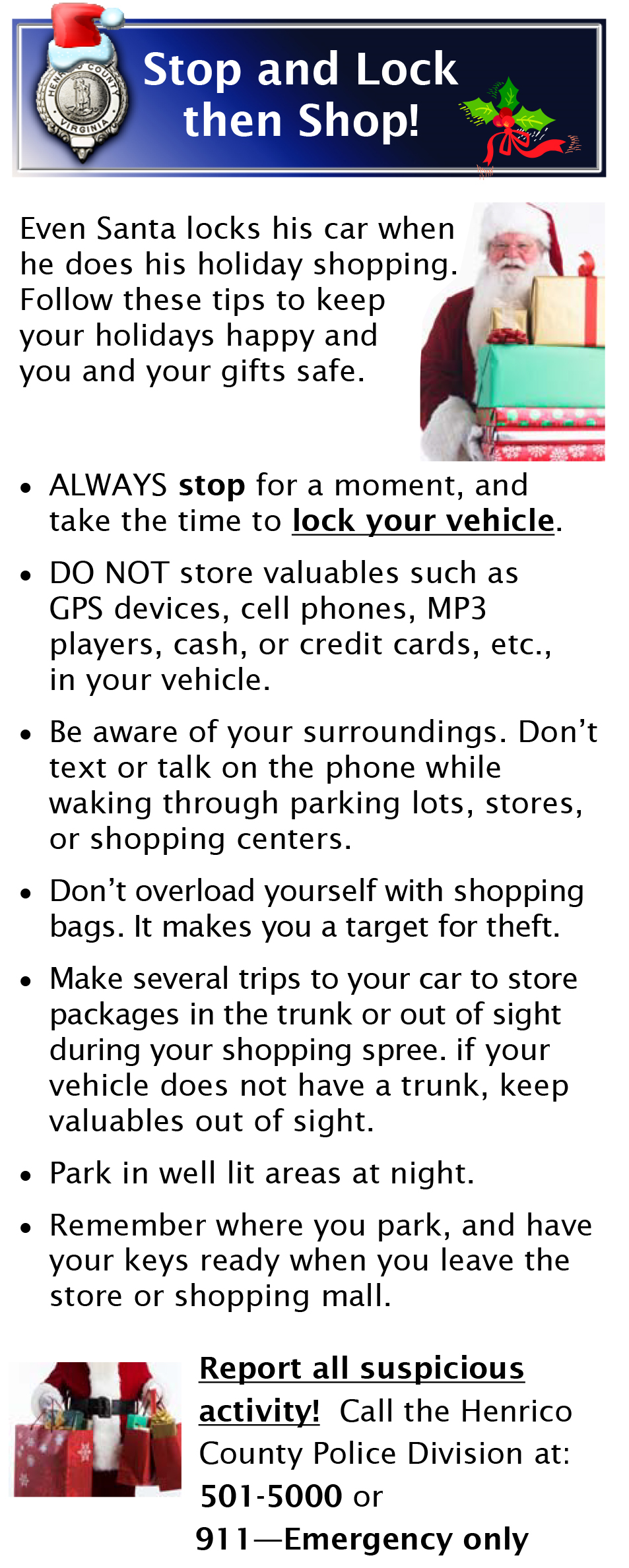 Stop and Lock then Shop