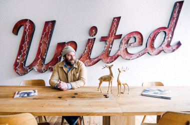 A for Adventure owner Jonathan Goldberg in office