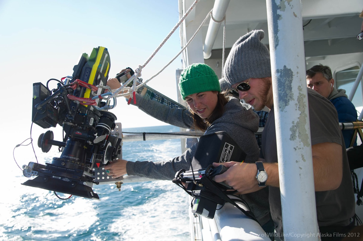 Director of Photography Hillary Spera gets some ferry shots.