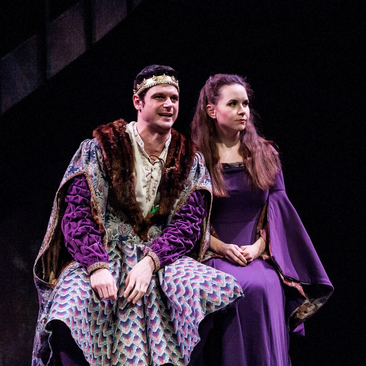 Evan Nasteff (King Philip of France) and Audra Honaker (Alais)