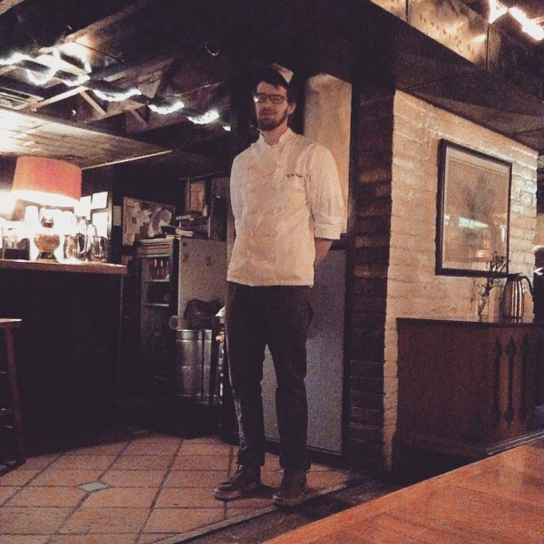 Ipanema's Chef Will Wienckowski, explaining about acidulated stuff.