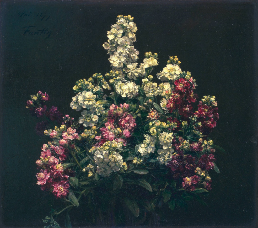 "Henri Fantin-Latour, ""White and Purple Stock"""