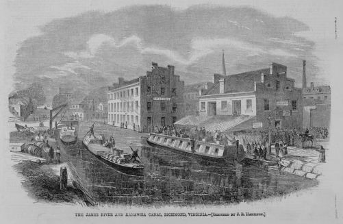 The Kanawha Canal in 1865