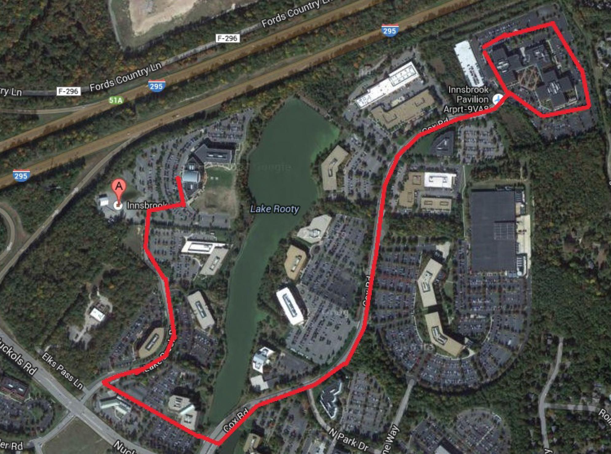 UNOS 5K Race Course