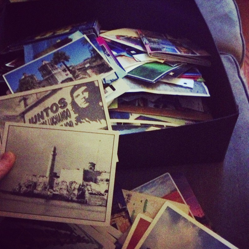 I have had a postcard collection since I was two years old. As I started entering the sentimental categories, I realized that some things still sparked joy and some things sparked sadness and regret and had to leave my life as soon as possible. The postcards get to stay. I love them still. I store them in two wooden wine boxes and visiting friends help me to curate shows for the postcard gallery I added to my house. Just this morning, a friend and fellow KonMarier, sent me a message that she found a postcard rack at a rummage sale. This is KonMari magic. The answers will present themselves at the right time. All that was released, comes back in a new way.