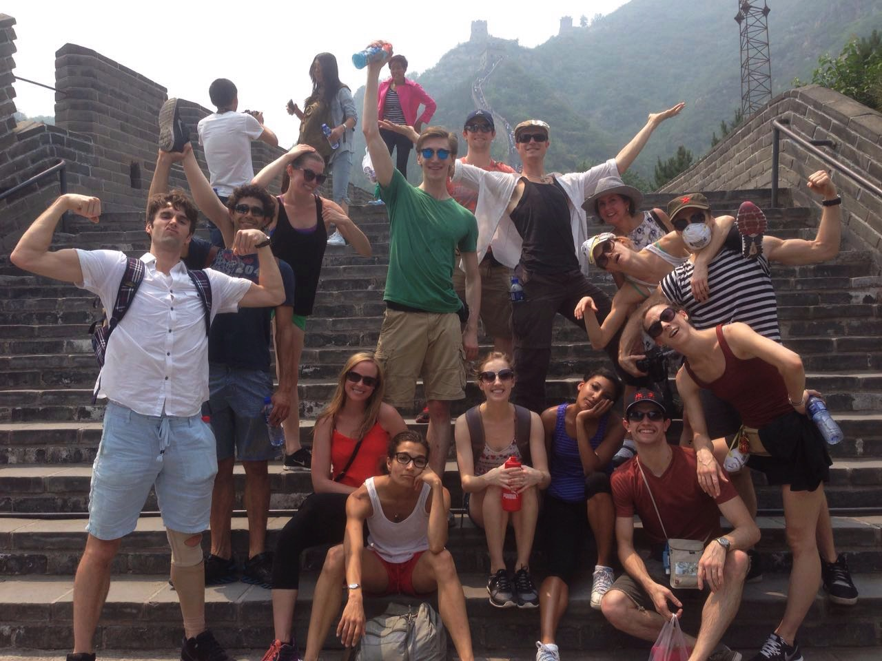 RICHARD - Group Makes it to the Top of The Great Wall
