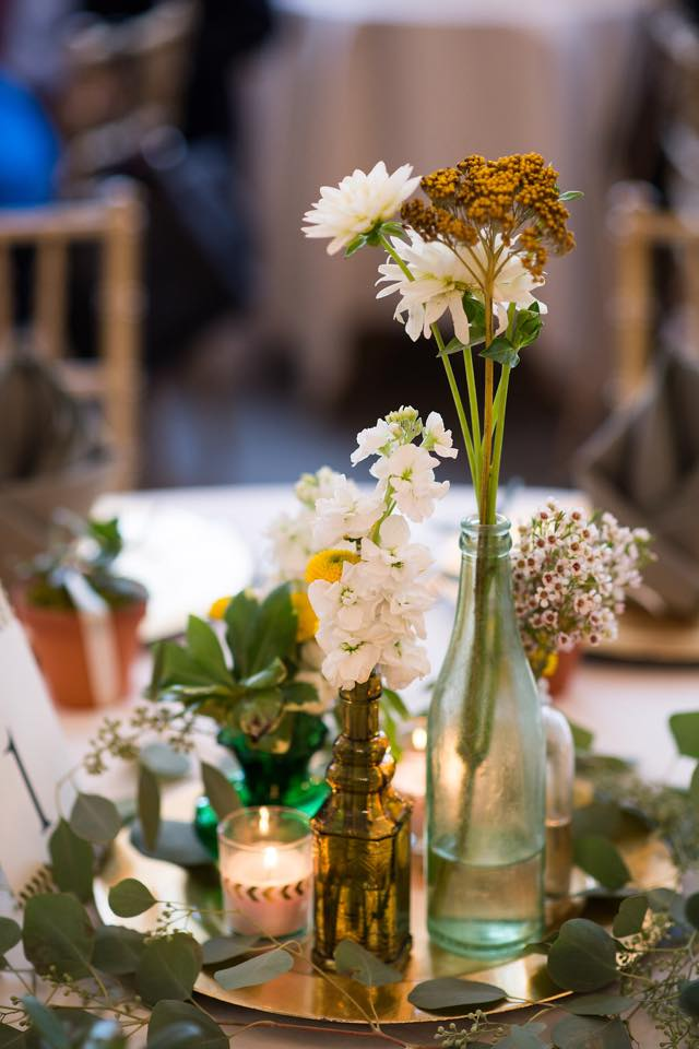 bankuet place wedding flowers