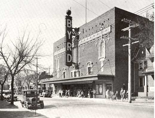 The Byrd Theatre shortly after it was built, showing the original signage. (Photo: Richmond Then & Now)