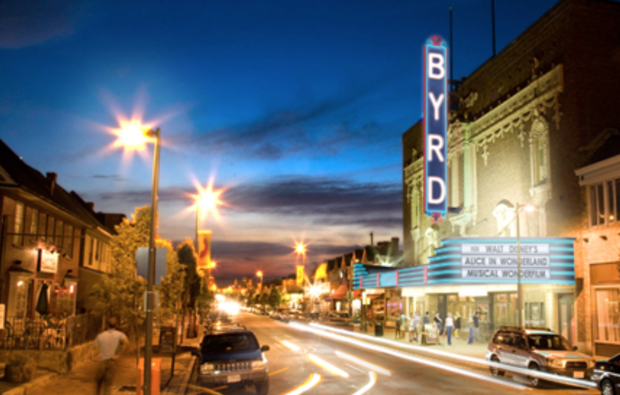 A conceptual rendering showing The Byrd's exterior after being returned to its former glory. (Image: The Byrd Theatre Foundation)