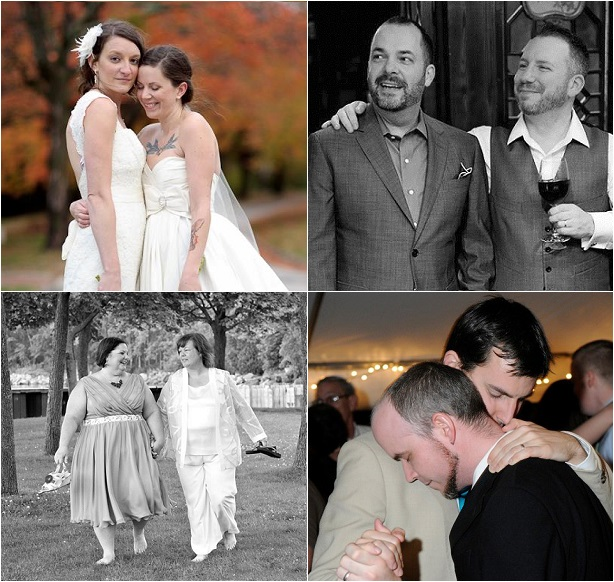 A few couples whose lives were forever changed by the Supreme Court's ruling: From top left: My wife, Jesse, and I--married for four years, Jason and Craig married for two years, Lori and Linda married for two years, and Jake and Tres married for seven years.