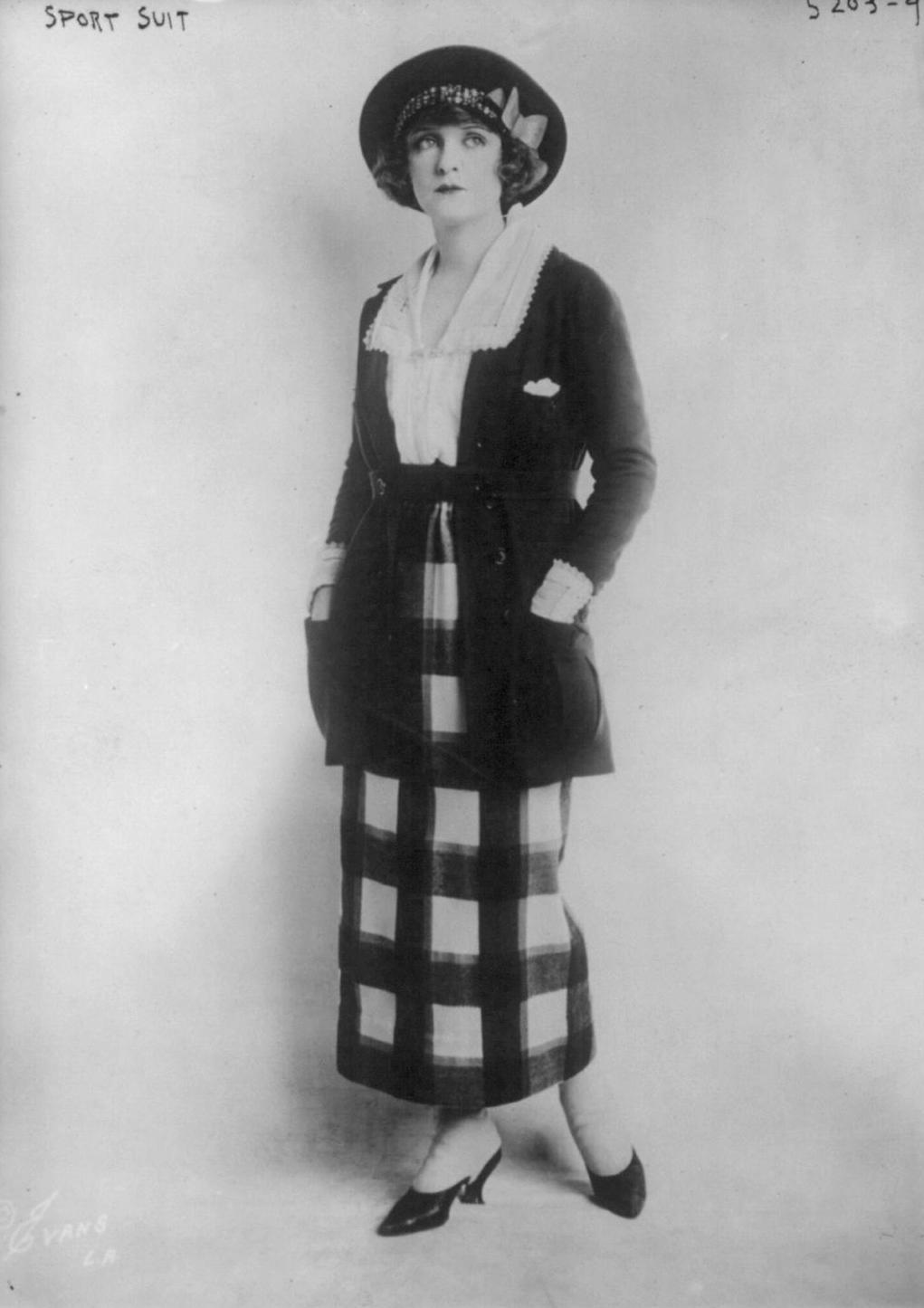 "A ""sport suit"" circa 1920."