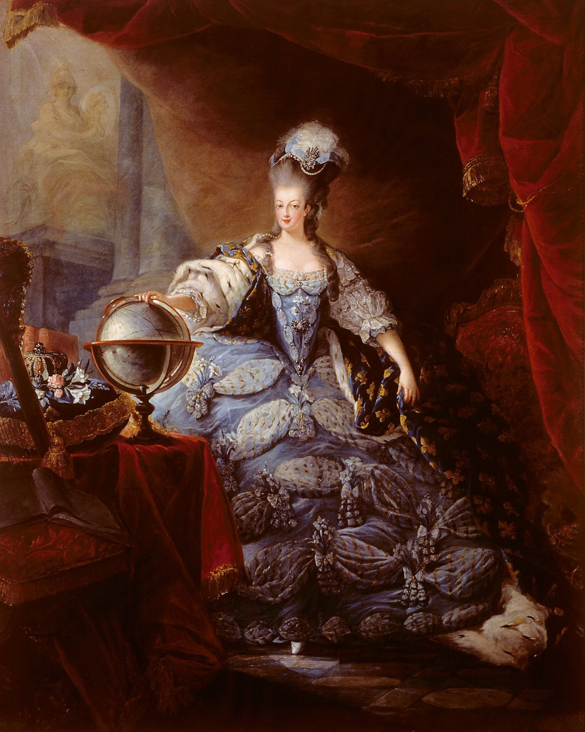 Marie Antoinette, decidedly not drab.