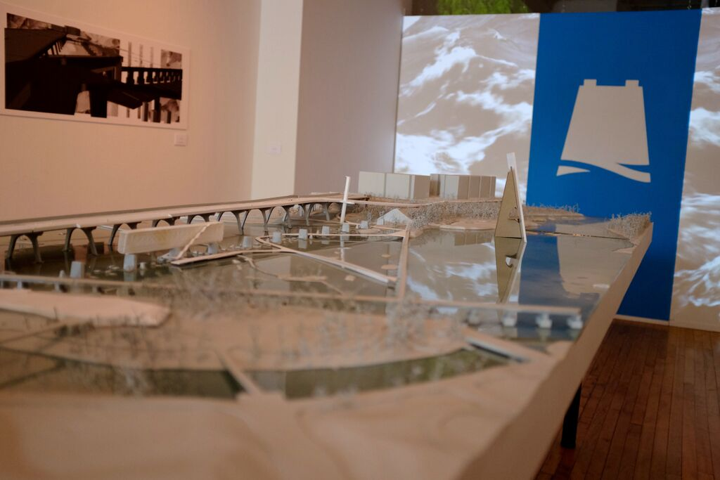 Part of the current exhibit at 1708 Gallery. Photo by Daniel White.