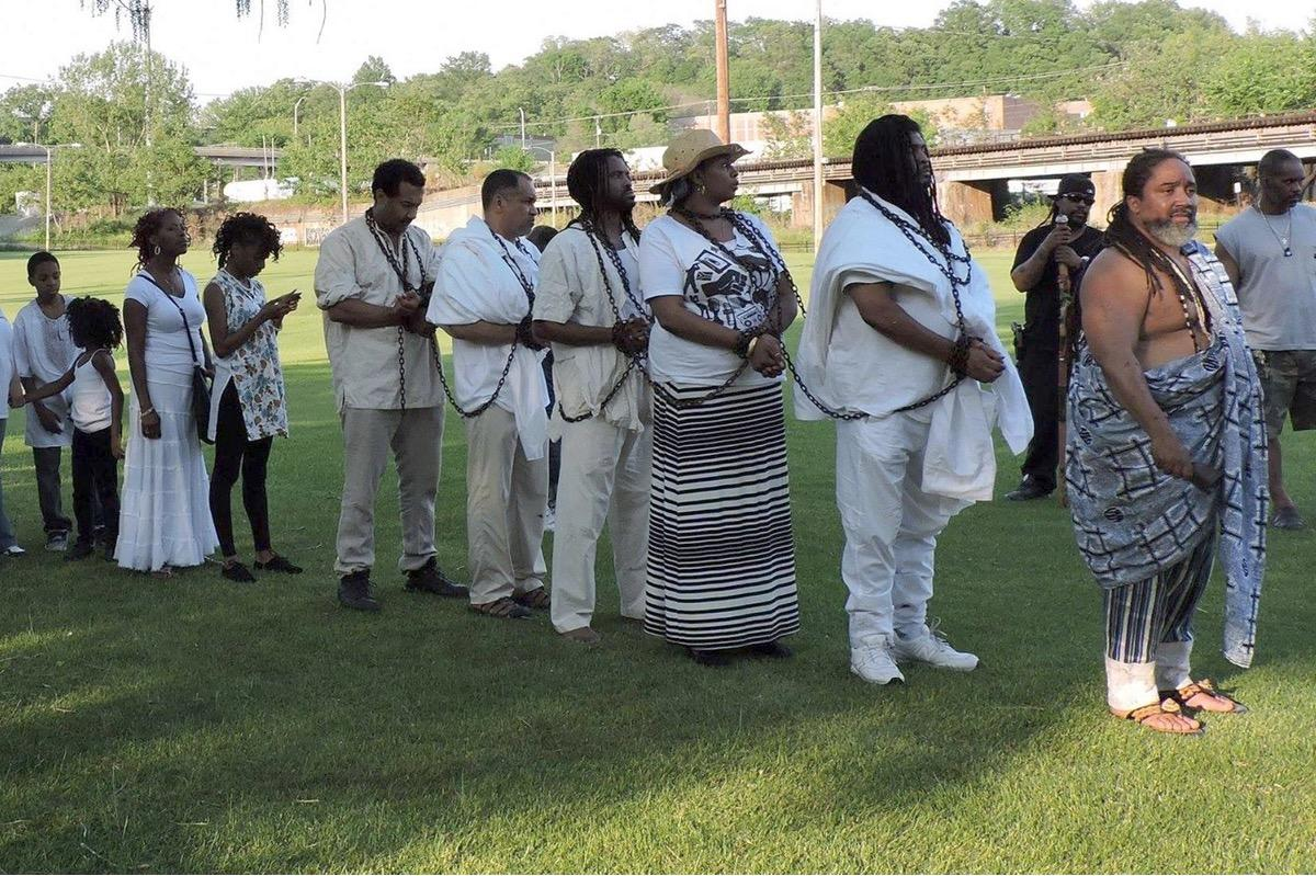 The Maafa Kebuka is an annual Self Determination ceremony designed to heal the effects of post traumatic enslavement on Black people in Richmond. Photo by Vanessa Nixon.