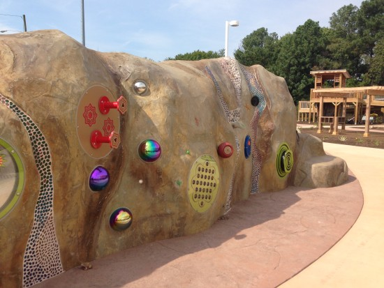 arcpark multi-sensory wall