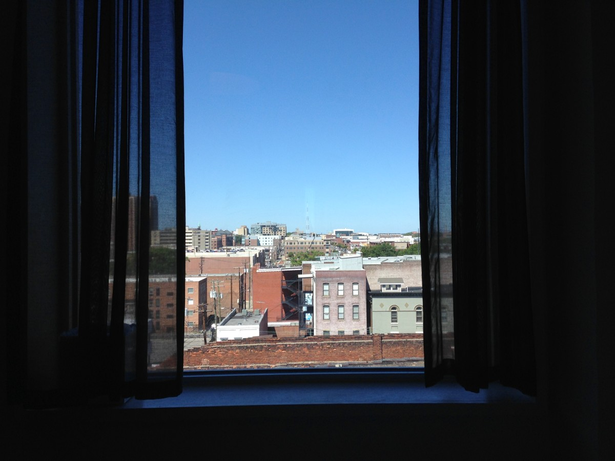 The view from a guest room.