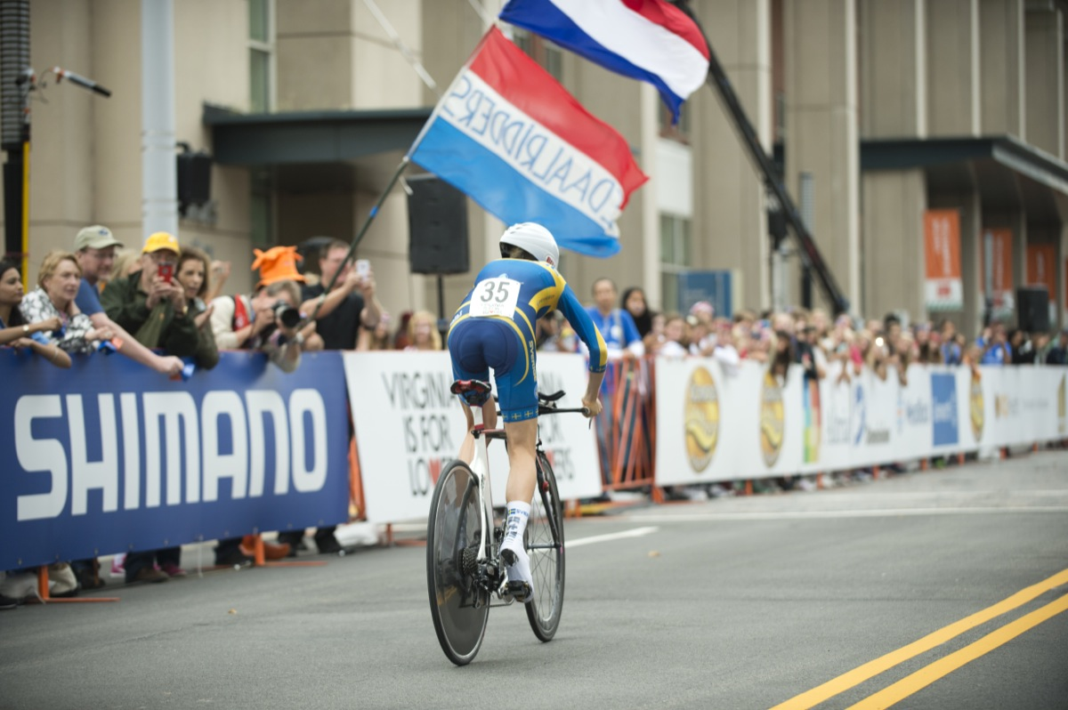 Junior Women's Time Trial. Photo by Richmond 2015/Casey B. Gibson.