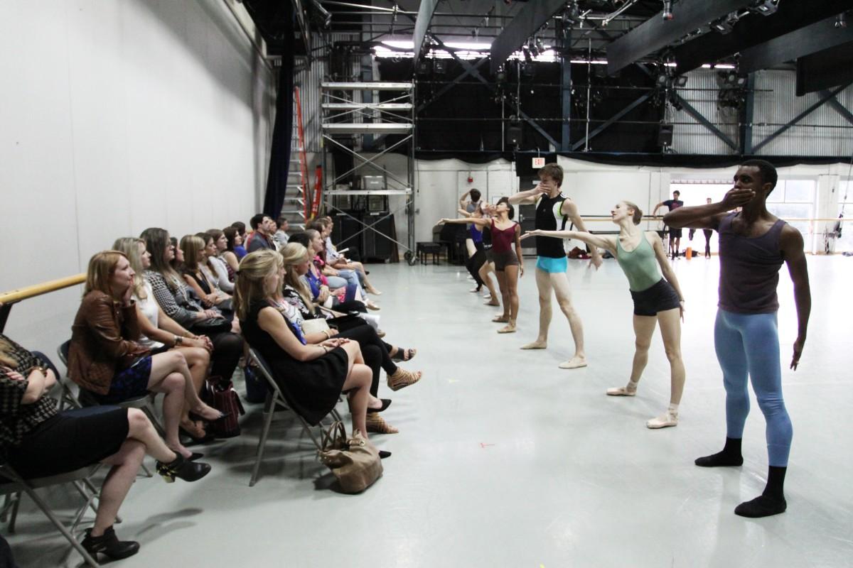 "Rehearsal of ""Stolen Moments."" Photo by Sarah Ferguson."
