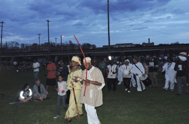 The Maafa Kebuka is an annual self-determination ceremony designed to heal the effects of post traumatic enslavement on Black people in Richmond. Photo byVanessa Nixon.